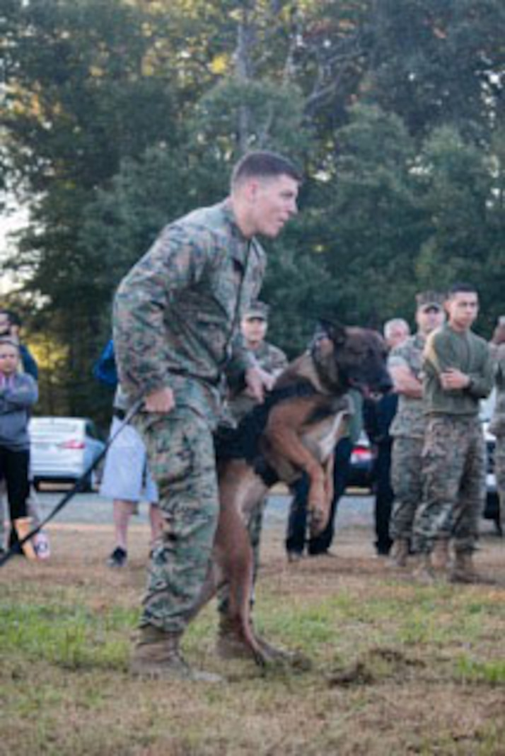 Service members and Civilian officers from local Police departments all competing for the Annual Iron Dog competition hosted by Security Battalion at MCB Quantico. October 20, 2017.