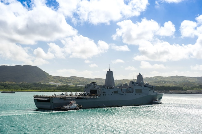 USS San Diego (LPD 22) arrives in Guam