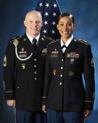 2018 U.S. Army Military Ambassadors: Sgt. 1st Class Nicholas J. Weaver and Staff Sgt. Latrise N. Flanigan.