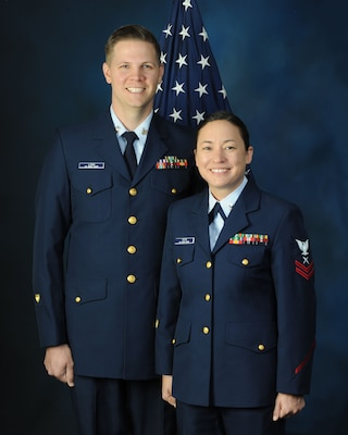 2018 U.S. Coast Guard Military Ambassadors: Petty Officer 1st Class Steven Long and Petty Officer 1st Class Victoria Toth.