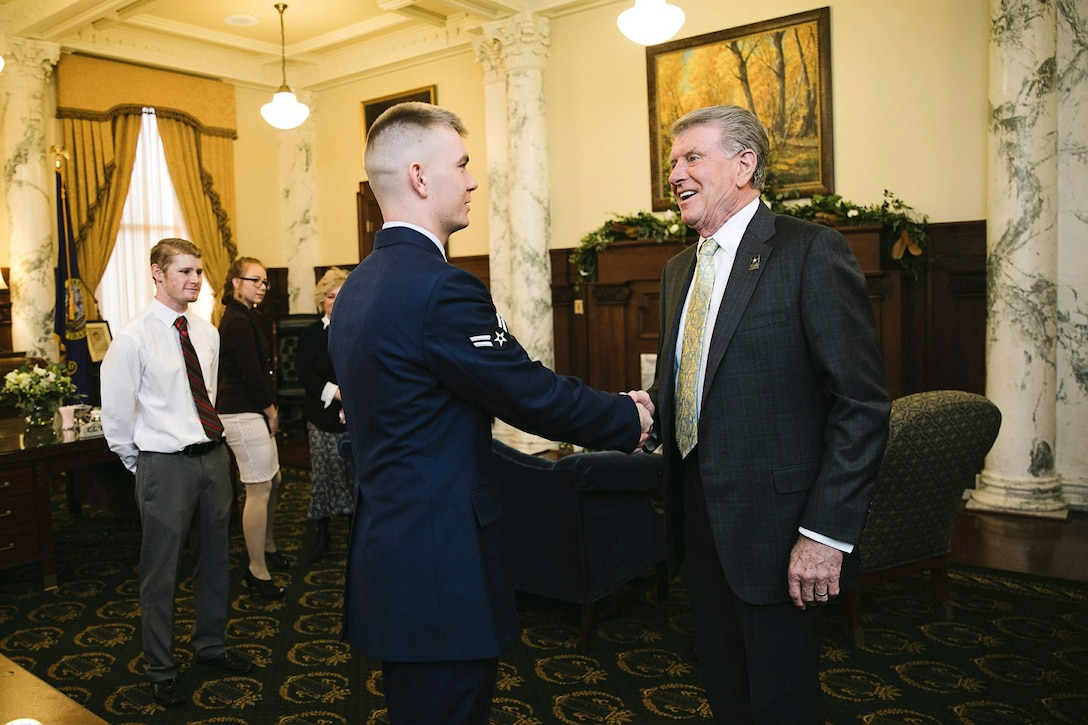 USAF Honor Guardsman recognized by Idaho governor