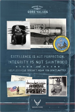 Core Values: Excellence is not perfection, integrity is not sainthood and selflessness doesn't mean you don't matter.