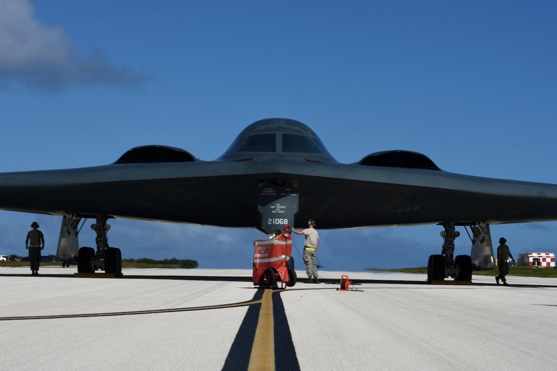 B-2 Spirits support Bomber Assurance, Deterrence mission