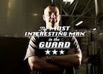 """Video frame grab with text overlay reading """"The Most Interesting Man in the Guard"""""""
