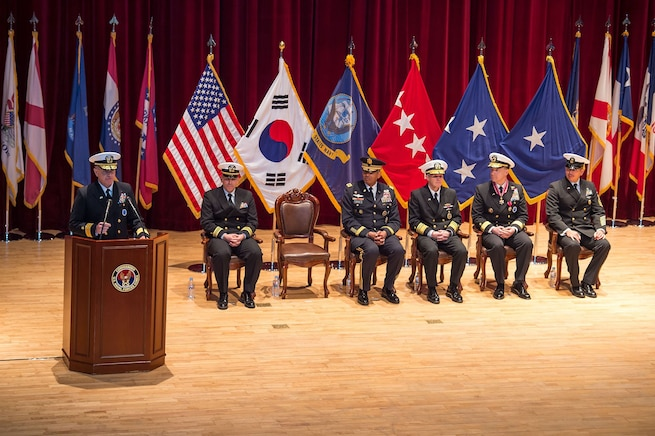 US Naval Forces Korea Conducts Change of Command