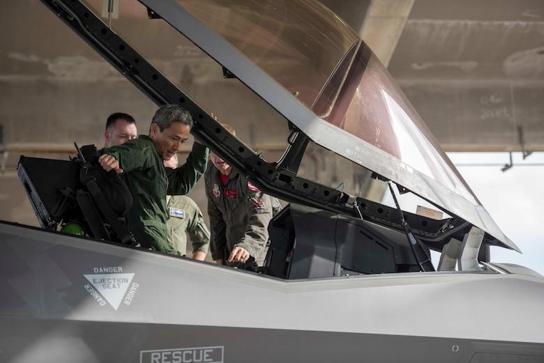 Bilateral Integration: JASDF General tours F-35A at Kadena