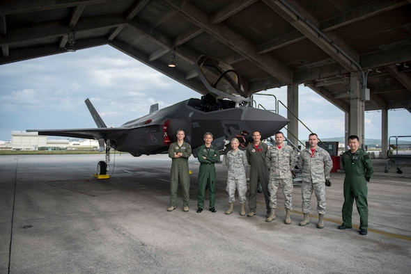 Bilateral Integration: JASDF General tours F-35A at Kadena