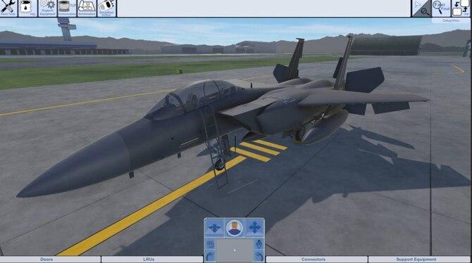 F-15E virtual environment
