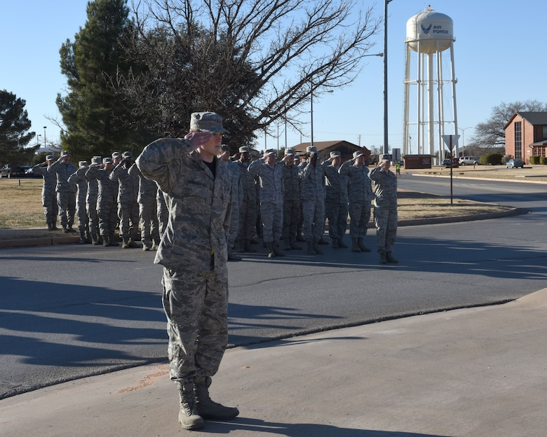Dyess holds wing retreat ceremony
