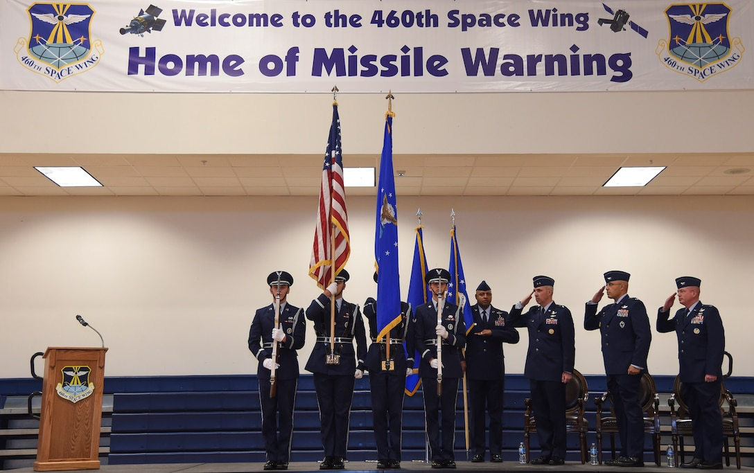 The ceremony is a military tradition that represents the formal transfer of authority and responsibility for a unit from one commanding officer to another. (U.S. Air Force photo by Airman 1st Class Holden S. Faul)