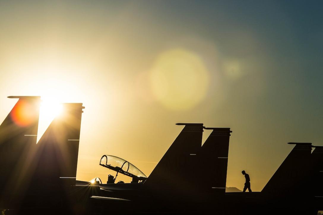 F-15 sunset