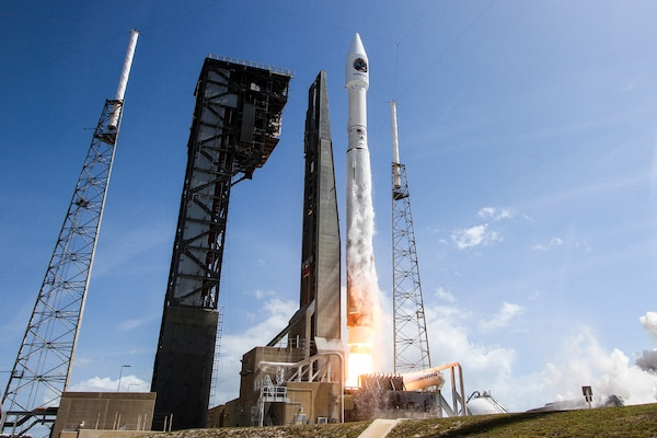 The Air Force's 45th Space Wing supported NASA's successful launch of Orbital ATK's Cygnus spacecraft aboard a United Launch Alliance Atlas V rocket from Space Launch Complex 41 at Cape Canaveral Air Force Station, Florida, April 18, 2017. In a Jan. 12, 2018, meeting, Deputy Defense Secretary Patrick M. Shanahan and Japan's minister of state for space policy met to discuss the importance of space to the mutual defense of their nations and how the United States and Japan can expand cooperation in that domain. Photo courtesy of United Launch Alliance