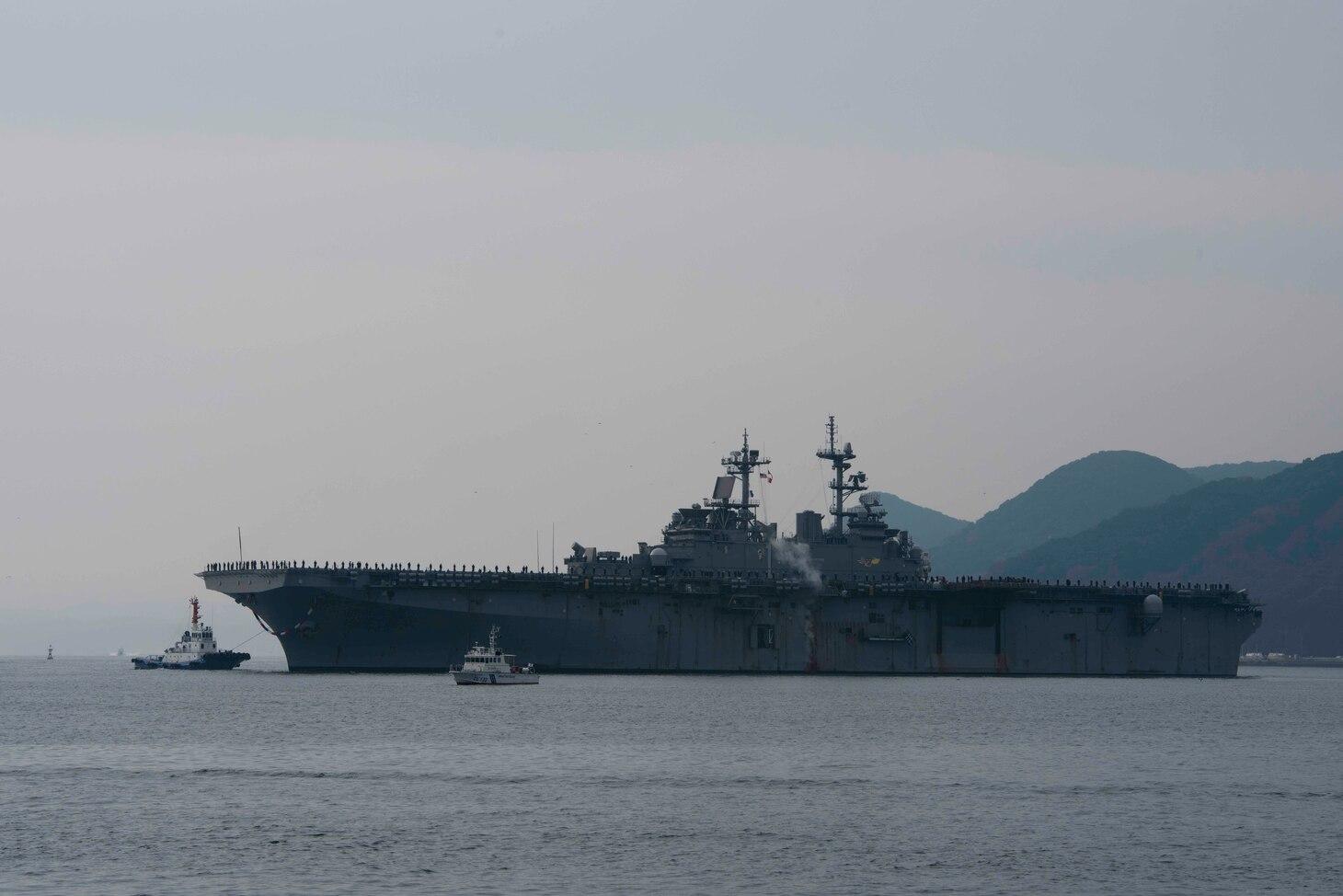 USS Wasp Arrives to Sasebo, Japan