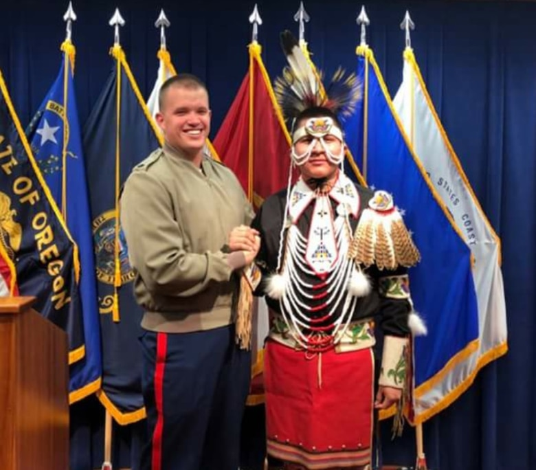 Nagitsy is enlisted in the Shoshone-Bannock tribes of southeastern Idaho and has bloodlines of four tribes; Northern Cheyenne, Eastern Shoshone, Shoshone-Bannock and Navajo. He will leave for Marine Corps Recruit Depot for recruit training on Jan. 16, 2018.