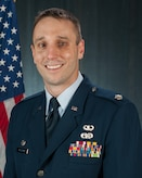 Offical Portrait of U.S. Air Force Lt. Col. Brian Jusseaume, 157th Maintenance Group commander, New Hampshire Air National Guard, August 6, 2017, Pease Air National Guard Base, N.H. (N.H. Air National Guard photo by Tech. Sgt. Aaron P. Vezeau)