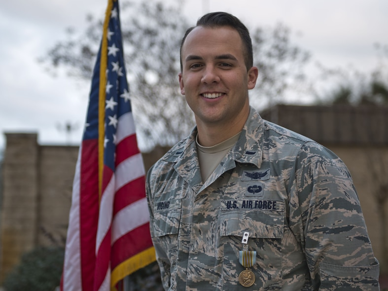 Airman receives Airman's Medal for heroic actions.