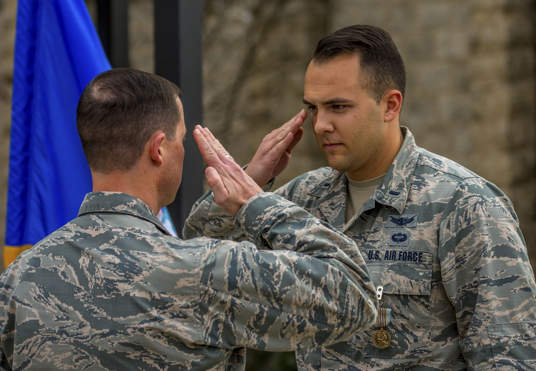 Airman's Medal awarded for heroic actions.