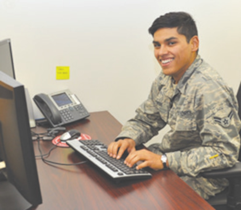Airman 1st Class Juan Fuentes, 552nd Aircraft Maintenance Squadron, was recently awarded three scholarships after only two years of Air Force service.