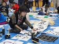 MCAS Iwakuni residents, Japanese locals bond through calligraphy event