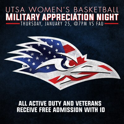 81412eb88 UTSA women s basketball hosts Miltary Appreciation Night Jan. 25   Joint  Base San Antonio   News