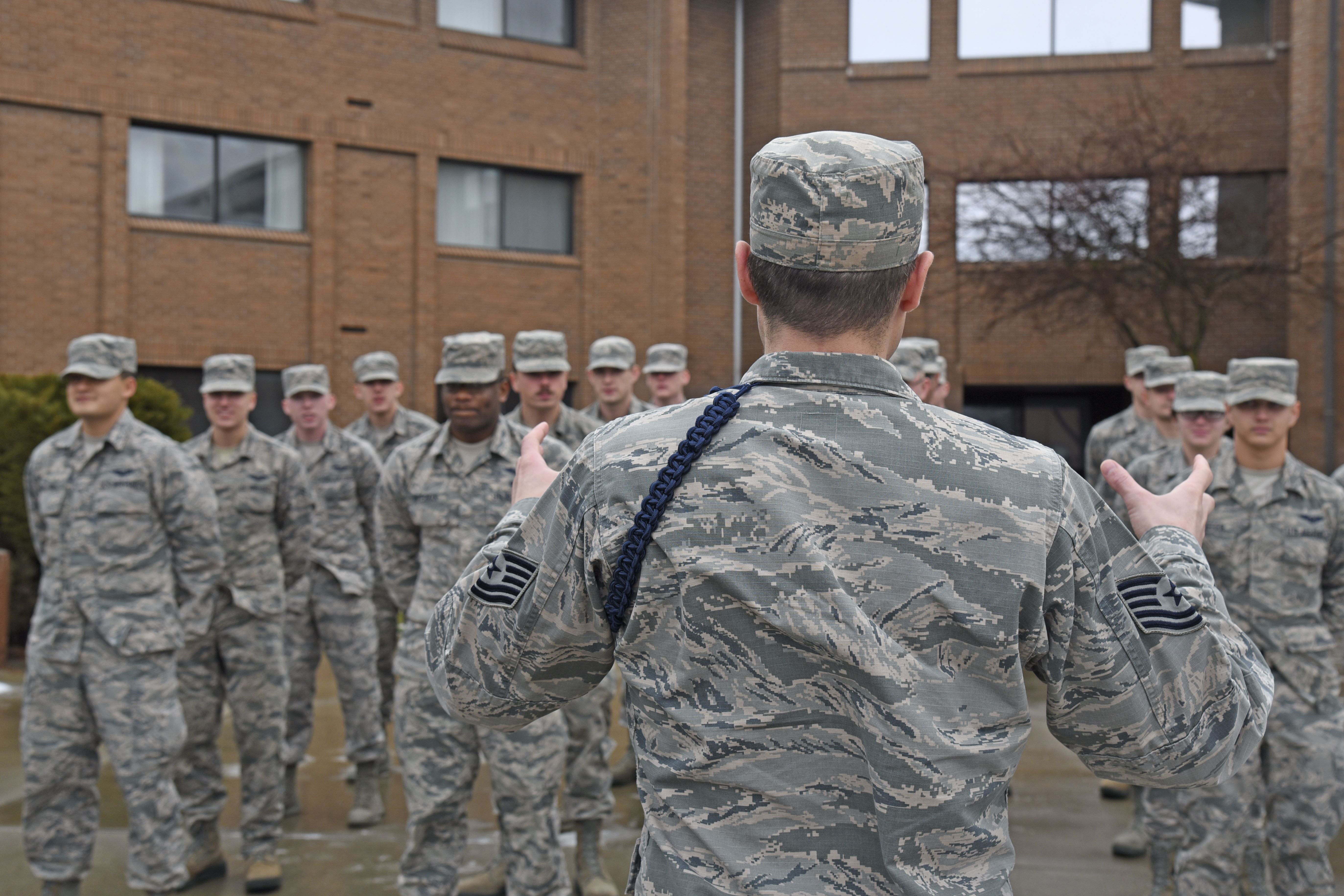 Taking a step outside of their AFSC: Military Training Leader