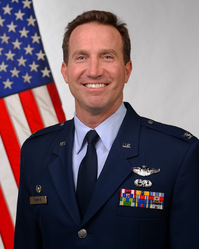 An official photo of U.S. Air Force Col. John Cosgrove, 177th Vice Wing Commander.