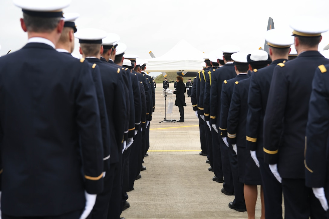 Lt. Gen. Richard Clark attended the inaugural C-130J Super Hercules ceremony in which France celebrated the acceptance of the first of four J-model aircraft.
