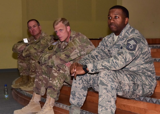 "The 386th Air Expeditionary Wing Top III council recently organized a ""real talk"" forum to Airmen preparing to return home from deployment for the first time. The event was an opportunity to hear candid, first-hand accounts of reintegration deployment experiences from a panel of senior noncommissioned officers. Members from the audience had sincere questions and expressed their concerns in hope of discovering answers to prepare themselves for their transition home."