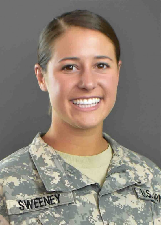Portrait in uniform of soldier chosen for Olympic team.
