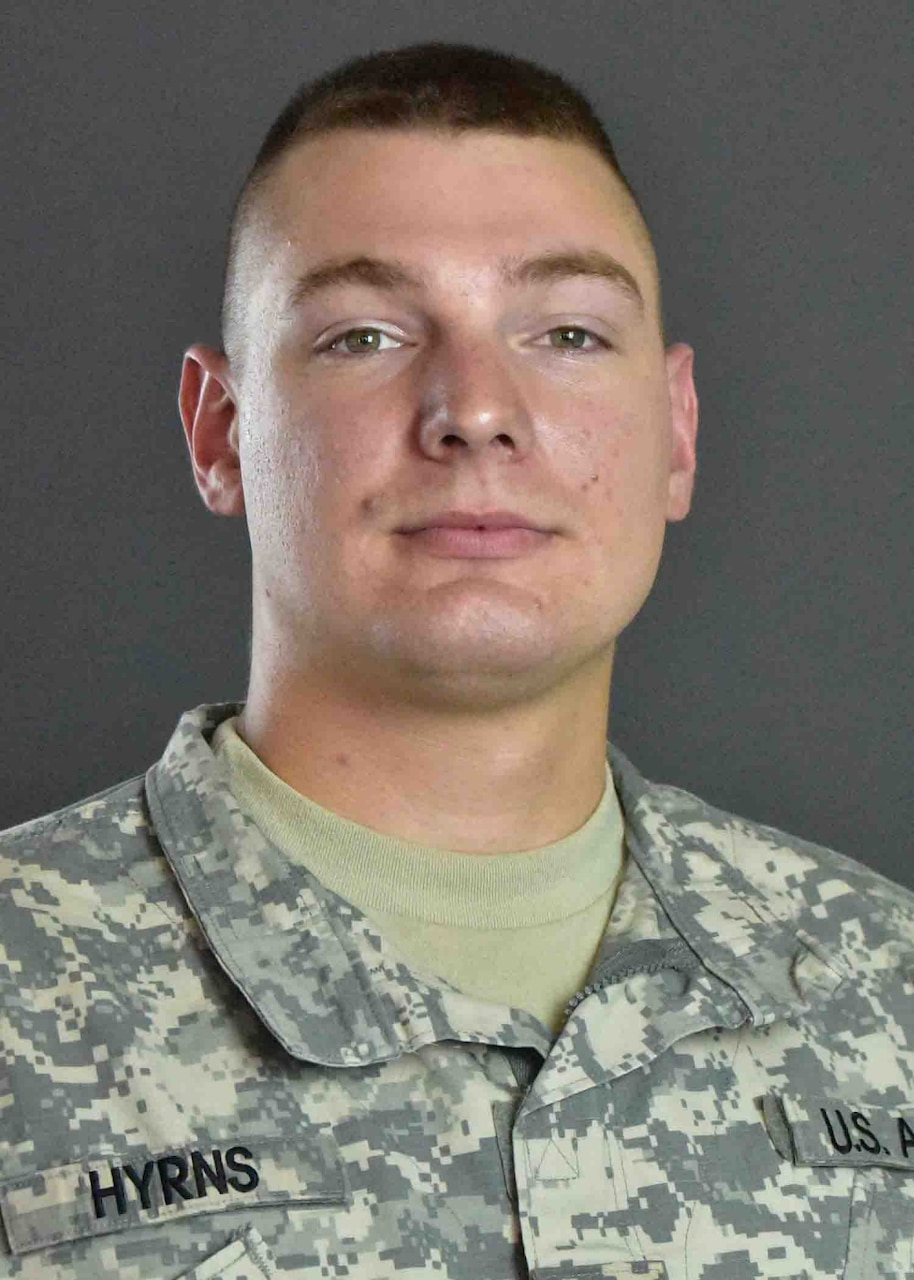 Portrait in uniform of soldier who narrowly missed selection for Olympic team.