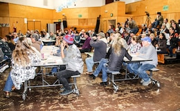 Residents of Mendocino County gathered Jan. 17 in the Eagle Peak Middle School in Redwood Valley, California for a community meeting. The audience listened to updates concerning debris removal and rebuilding information given by county, city, state and federal representatives.