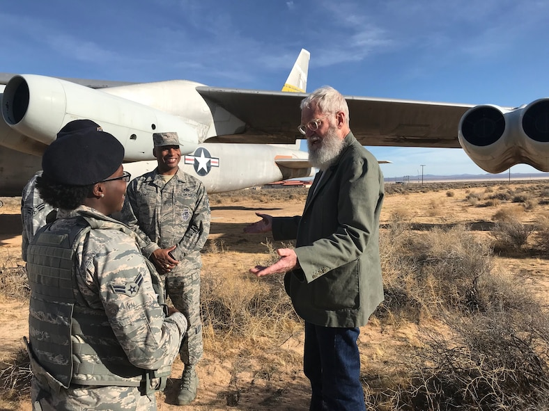 David Letterman visits Edwards AFB