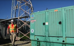 Alex Almeida, a U.S. Army Corps of Engineers, Walla Walla District, temporary emergency power team member, prepares electrical generators Nov. 27, 2017, for mobilization and installation across the U.S. Virgin Islands.