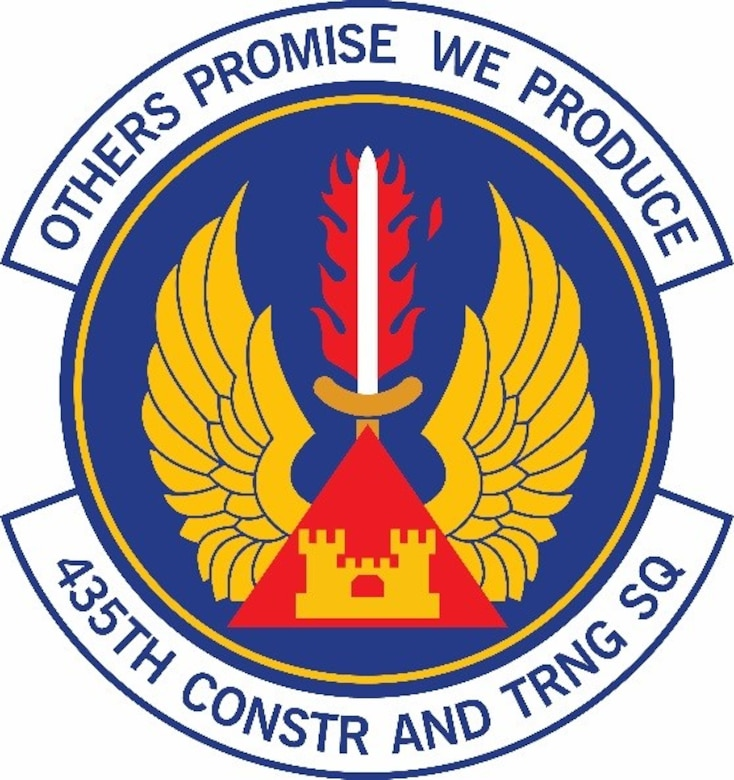 The 435th Construction and Training Squadron logo. (Courtesy graphic)