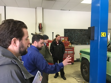 Cold Regions Lab researcher briefs instrumented vehicle