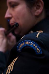 U.S. Army Sgt. 1st Class plays piccolo