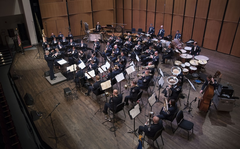 Air Force Concert Band plays at Schlesinger Concert Hall.