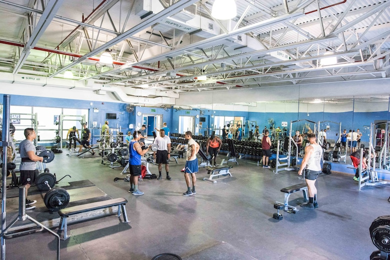 Service members utilize gym facilities at AUAB