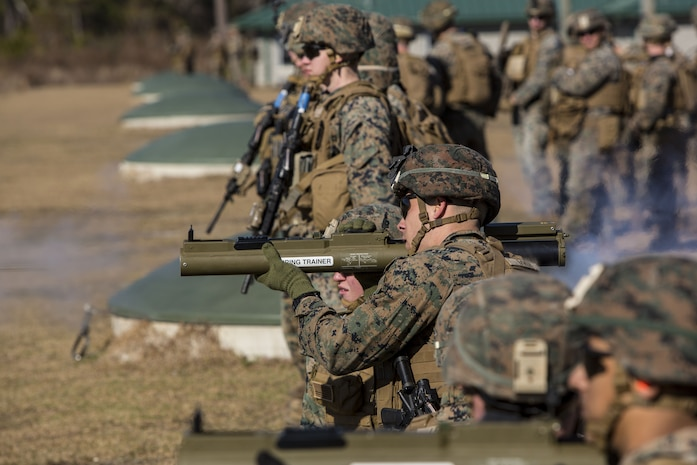 Marines conducted live-fire ranges where they rehearsed rocket battle drills and fire team attacks.