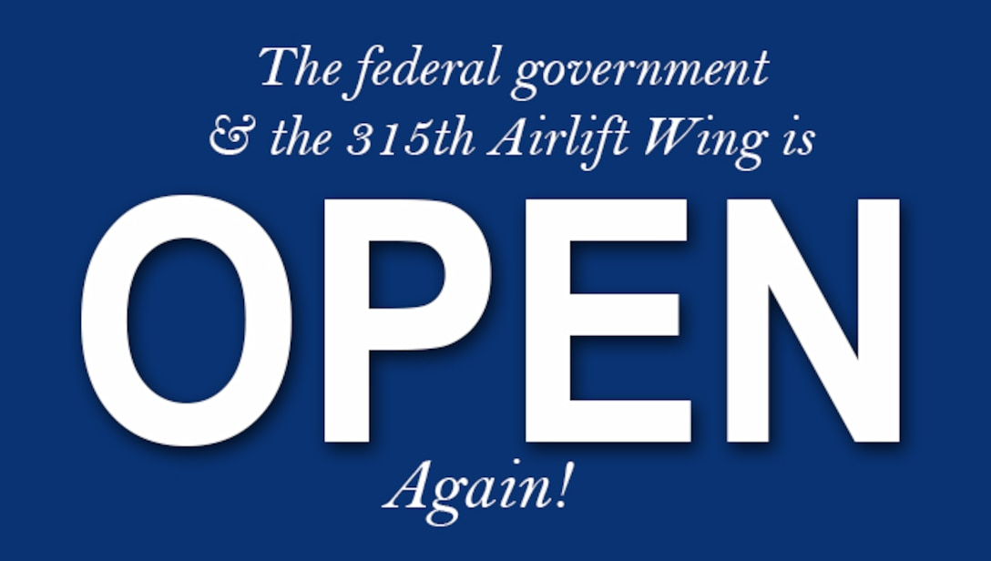 We're Open!