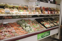 The organic produce section is located at the right toward the entrance of Fort Riley Commissary. Organic produce mean the vegetables and fruits have been treated with no pesticides or chemicals.