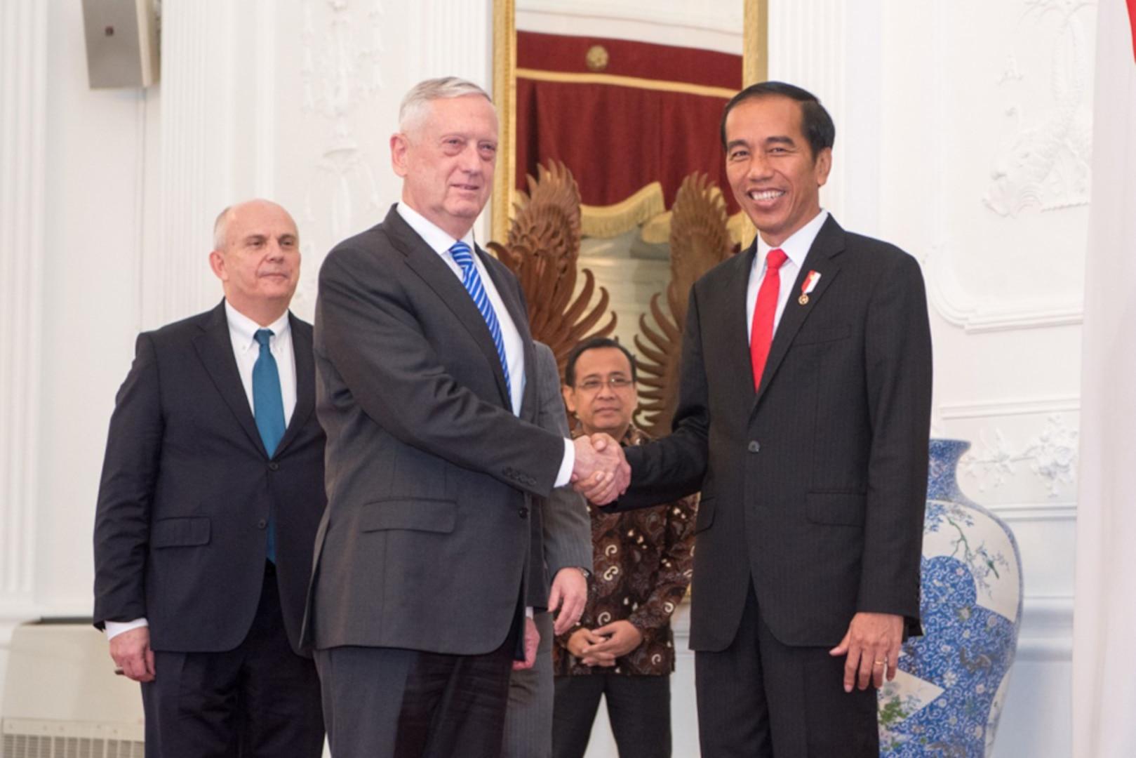 Secretary Mattis En Route to Indonesia
