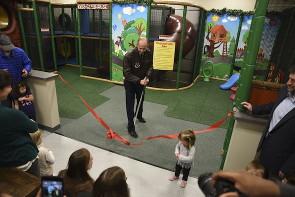 Col. Teichert opens indoor- playground