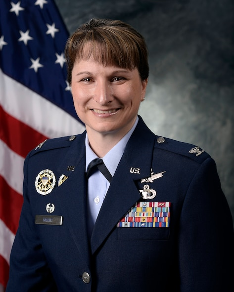 Col. Jennifer Grant, 50th Space Wing commander. (U.S. Air Force photo/ Chris Dewitt)