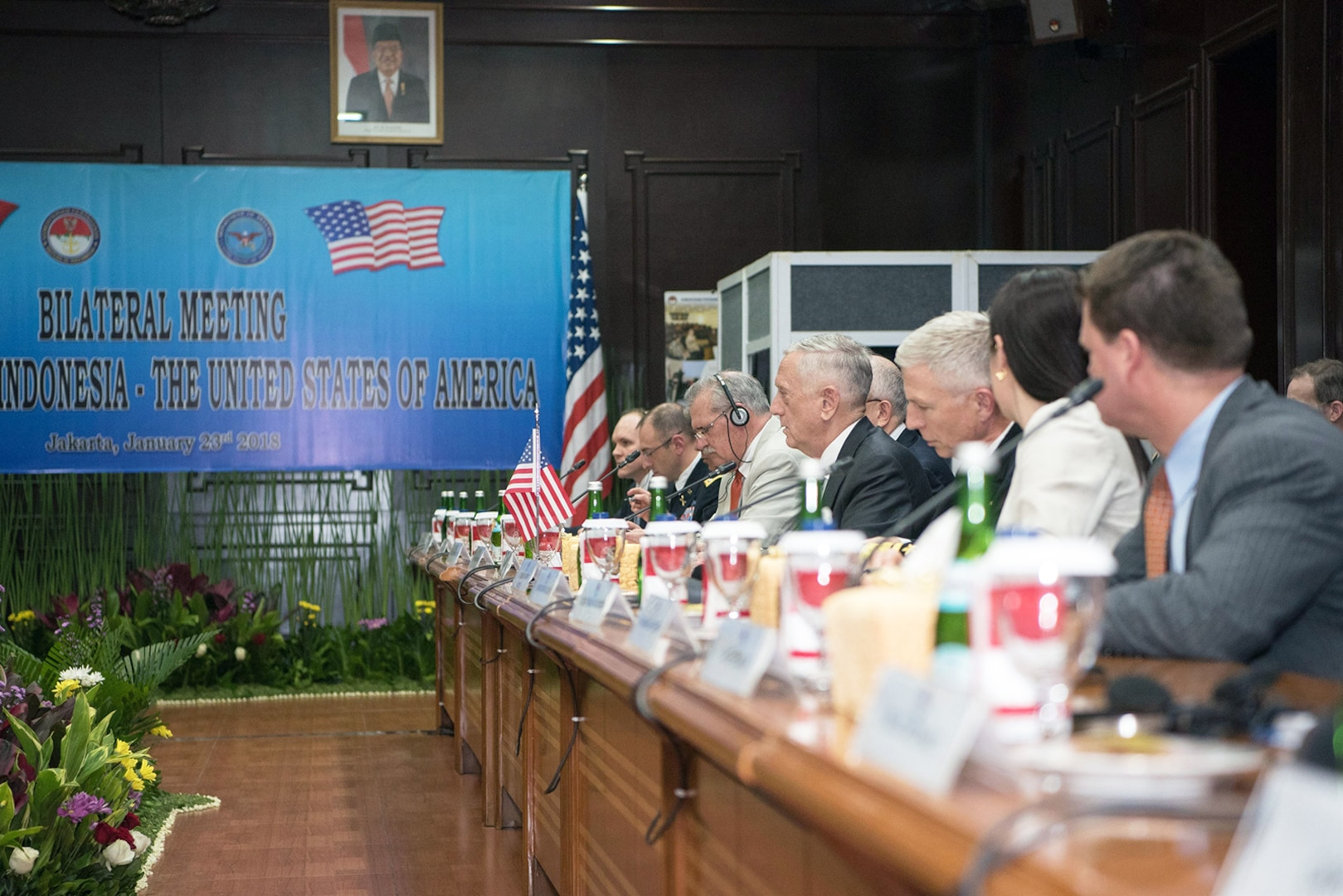 Defense Secretary Meets With Indonesian Counterpart