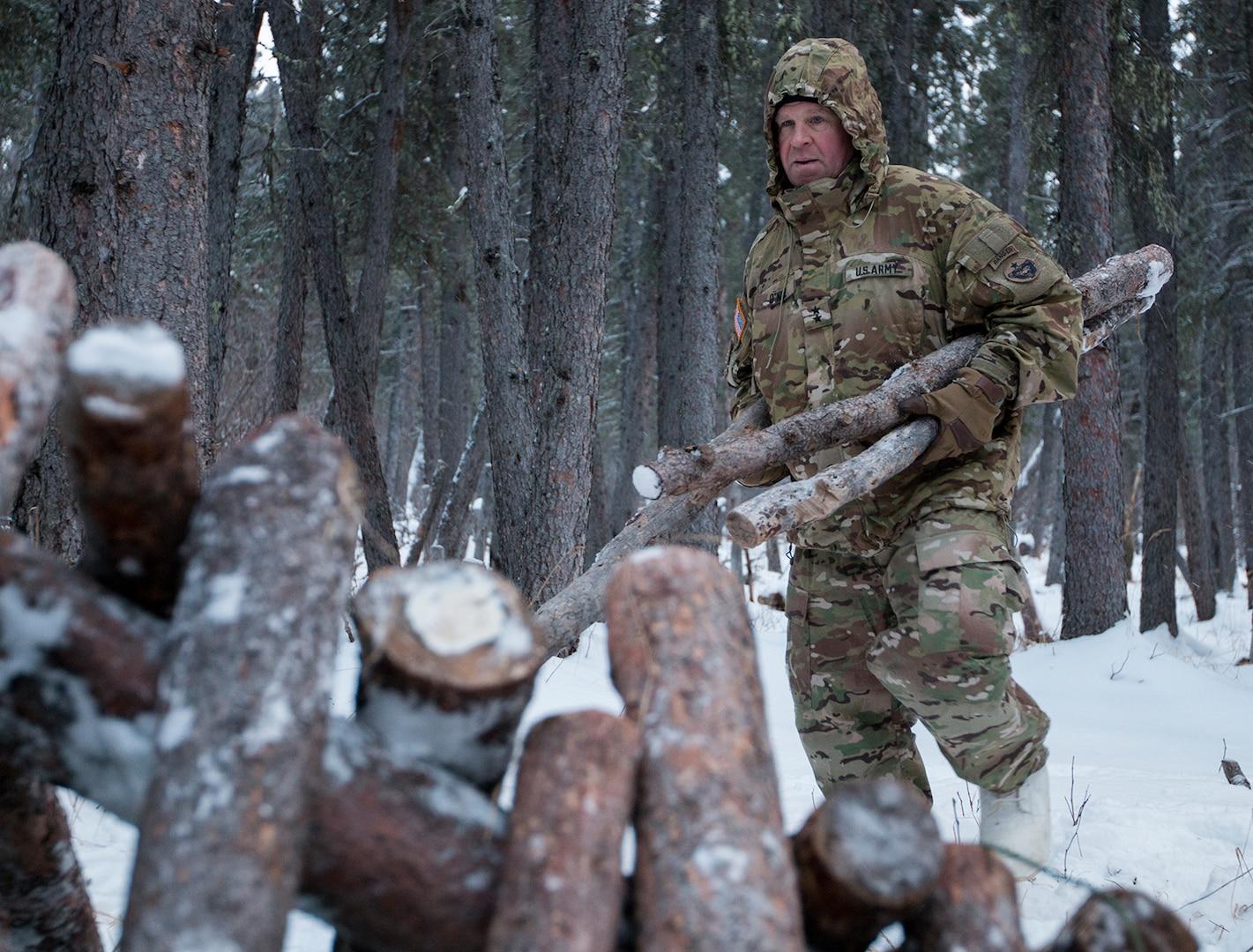 Alaska Army National Guard executes Arctic training, helps local dog race
