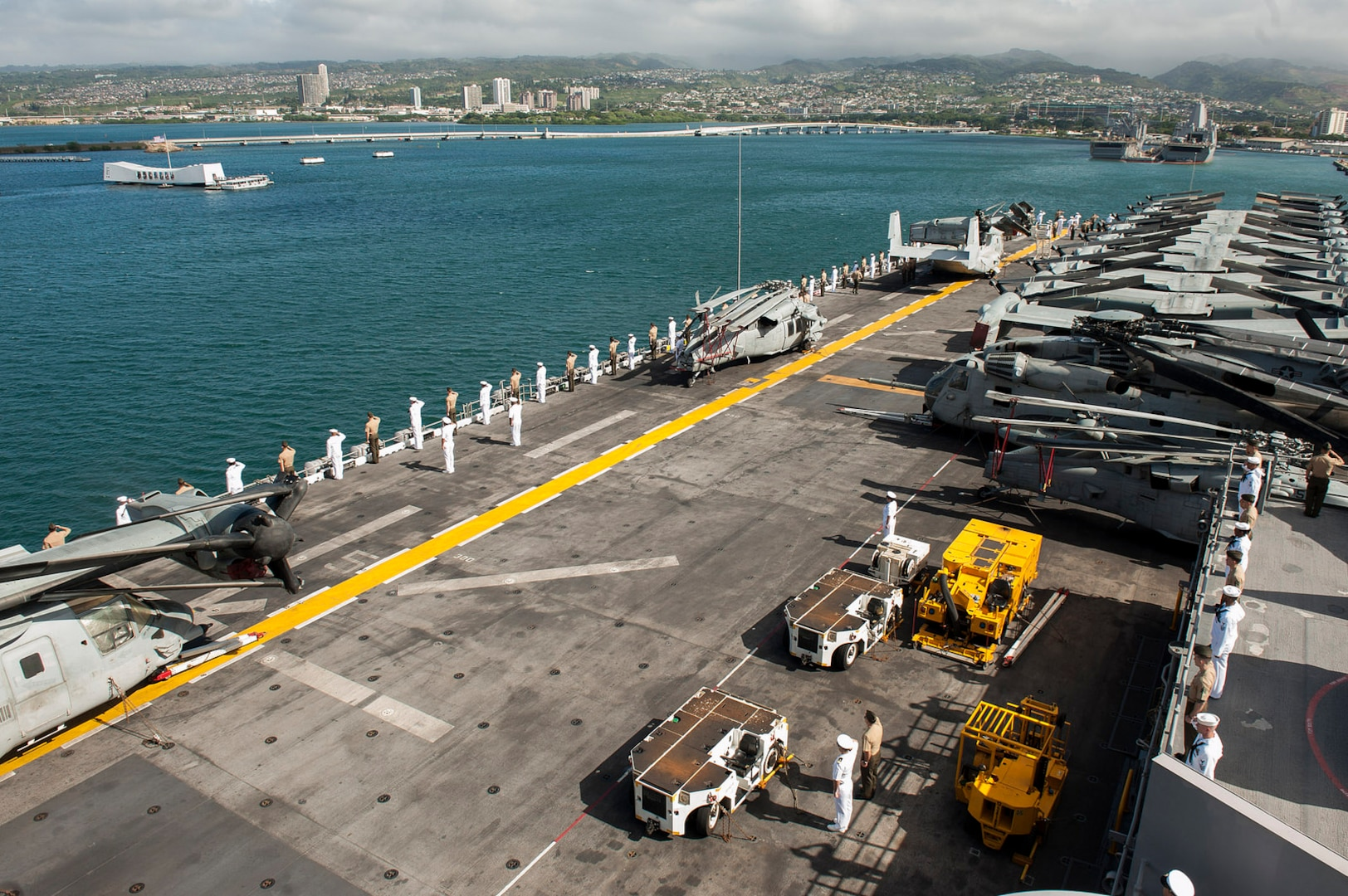 America Amphibious Ready Group Arrives in Hawaii