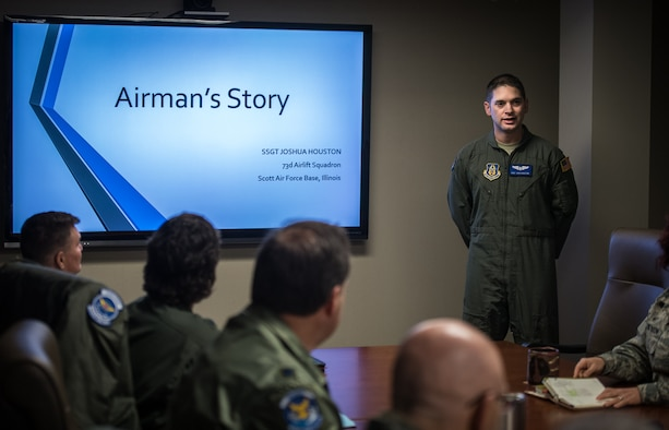 Staff Sgt. Joshua Houston, 73rd AS flight attendant shares his Air Force story.