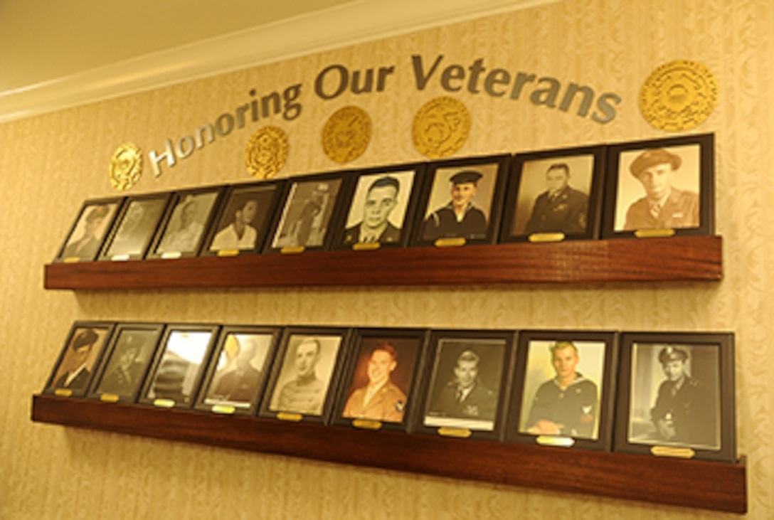 Picture of Honor Wall in the assisted living facility.
