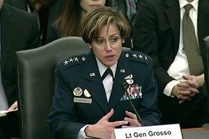 A female service member speaks.